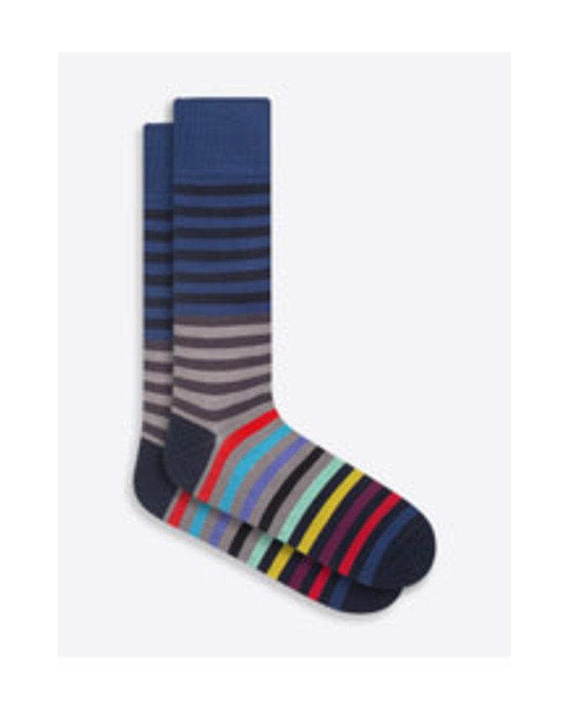 BUGATCHI UOMO Cotton Thin Stripe Sock