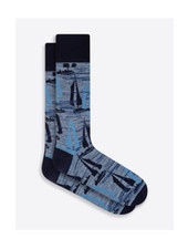BUGATCHI UOMO Cotton Sailboat Sock