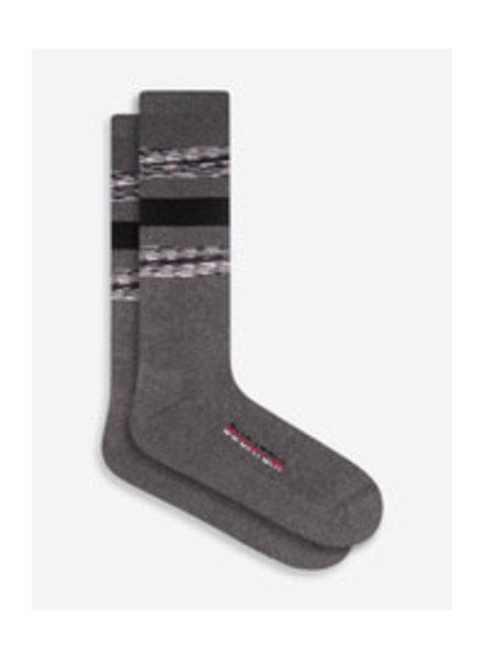 BUGATCHI UOMO Heavy Cotton Wide Stripe Sock