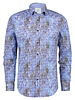 A FISH NAMED FRED Modern Fit Blue Canal Houses Shirt