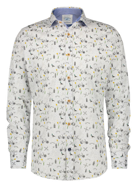 A FISH NAMED FRED Modern Fit Dutch Details Shirt