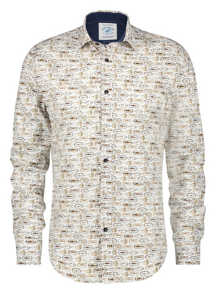 A FISH NAMED FRED Modern Fit Fish Plate Shirt