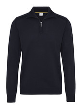 BUGATTI Navy Wool 1/4 Zip Sweater