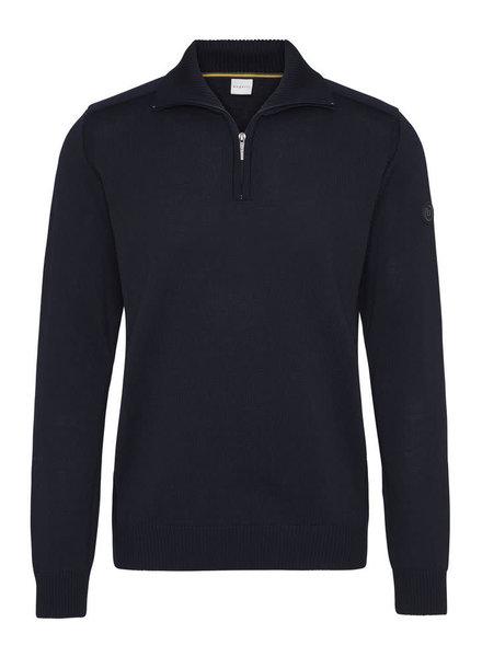 BUGATTI Navy Wool 1/4 Zip Sweater