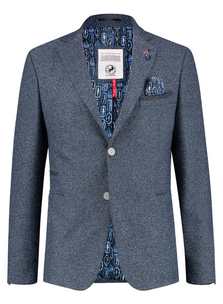 A FISH NAMED FRED Slim Fit Blue Neat Sport Coat