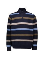 PAUL & SHARK Eco Wool Striped 1/4 Zip Sweater