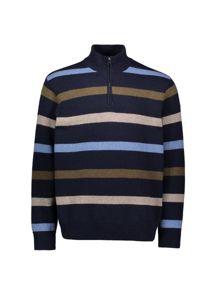 PAUL & SHARK Eco Wool Striped 1/4 Zip Sweater