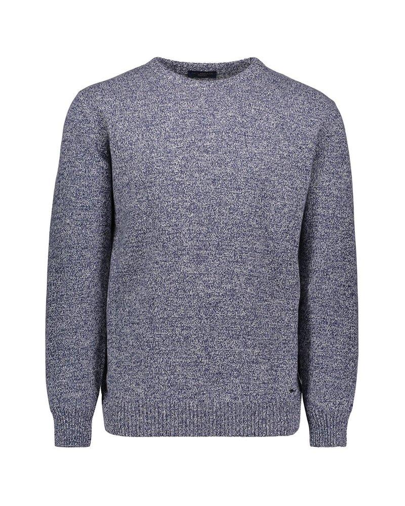 PAUL & SHARK Denim Blue Eco Cashmere Crrewneck Sweater