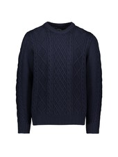 PAUL & SHARK Navy Fisherman Knit Crewneck Sweater