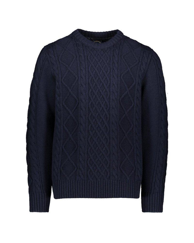 PAUL & SHARK Navy Fisherman Knit Crewneck Sweater