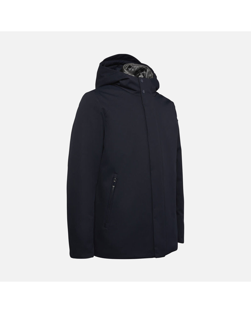 GEOX Navy Open Bottom Casual Coat