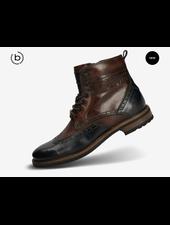 BUGATTI Blue & Brown Brogue Boot
