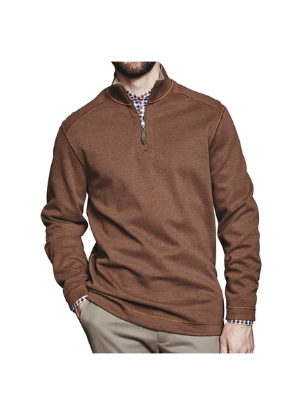 JOHNSTON & MURPHY Rust Reversible 1/4 Zip