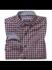 JOHNSTON & MURPHY Classic Fit Rust & Navy Gingham Shirt