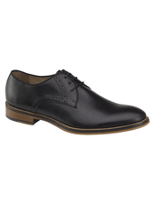 JOHNSTON & MURPHY Black Conard Plain Toe Shoe