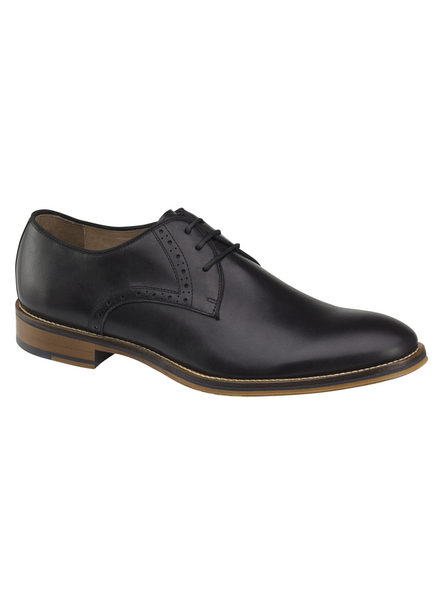 JOHNSTON & MURPHY Black Conard Plain Toe Shoe