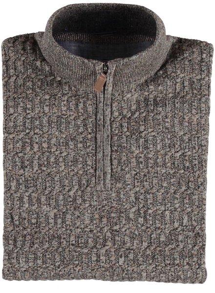 Brown Tones 1/4 Zip Sweater