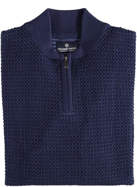 FELLOWS UNITED Mid Blue 1/4 Zip Sweater