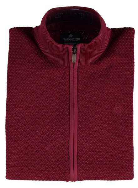 FELLOWS UNITED Red Full Zip Sweater