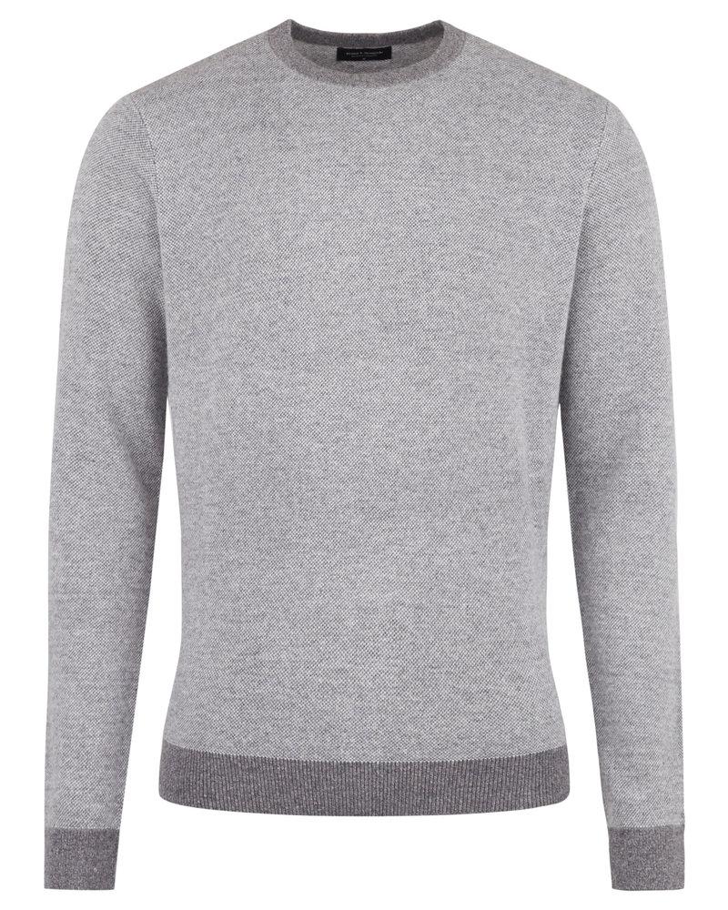 BRUUN & STENGADE Wool Blend Crew Neck Sweater