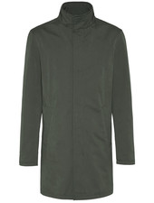 BUGATTI Olive Full Length Overcoat