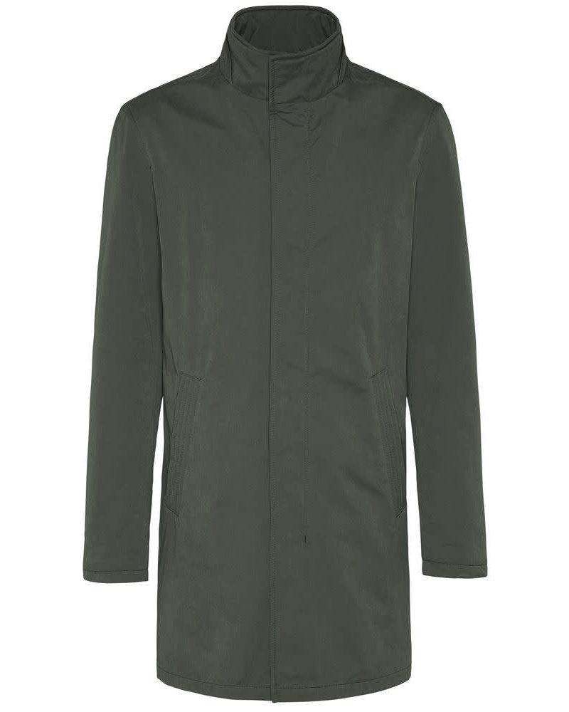 BUGATTI Olive Full Length Overcoat