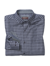 JOHNSTON & MURPHY Classic Fit Navy Gingham Shirt