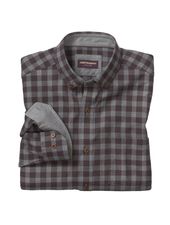 JOHNSTON & MURPHY Classic Fit Brown Gingham Shirt