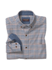 JOHNSTON & MURPHY Classic Fit Grey with Navy Orange Block Shirt