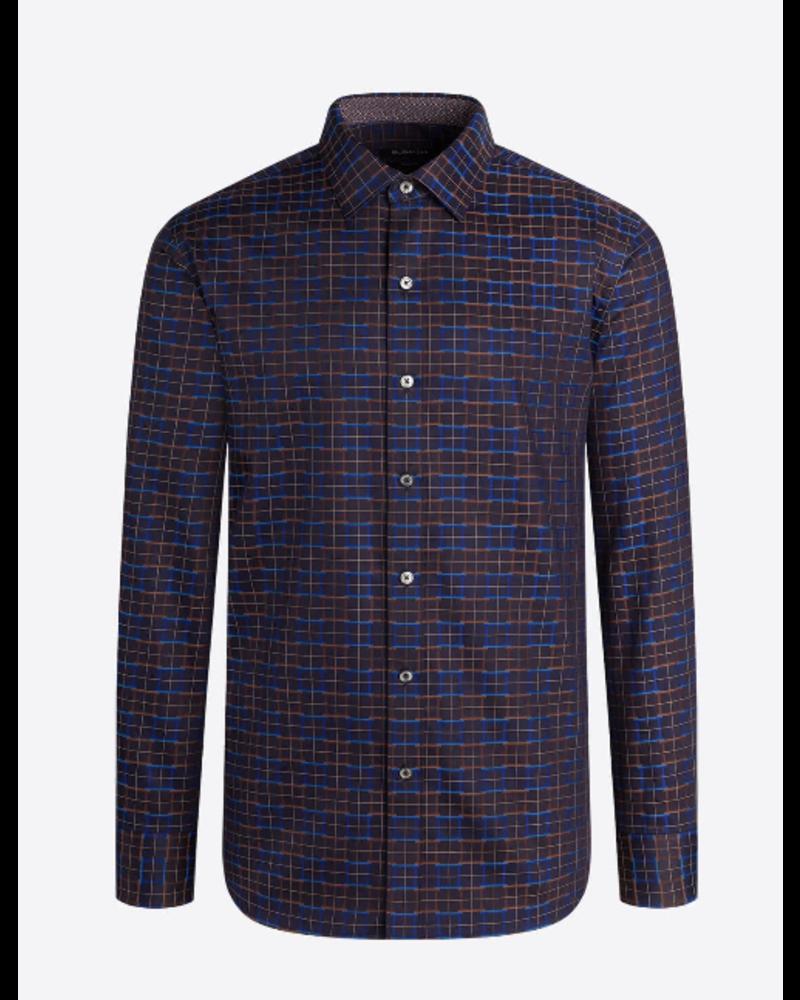 BUGATCHI UOMO Classic Fit Brown Navy Shirt