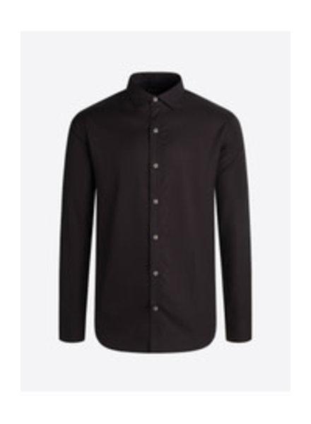 BUGATCHI UOMO Modern Fit Black Tonal Houndstooth Shirt