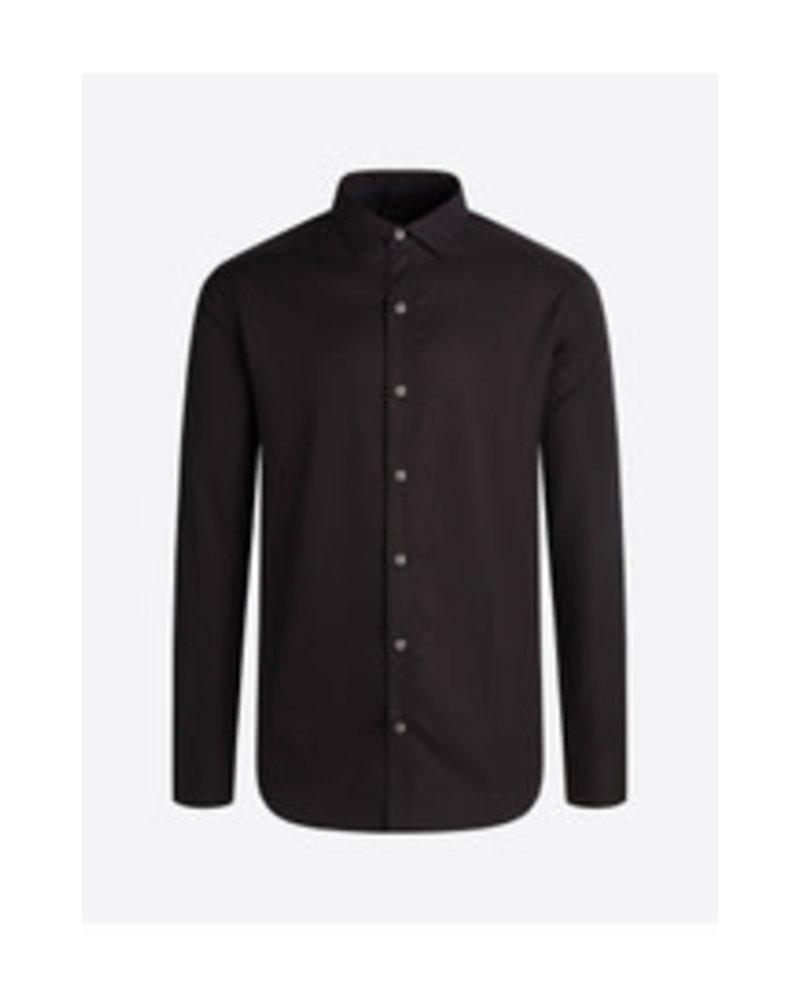 BUGATCHI UOMO Modern Fit Black Tonal Hounsdtooth Shirt