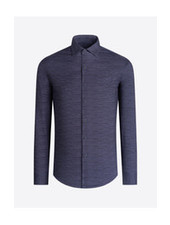 BUGATCHI UOMO Modern Fit Ooh Cotton Graphite  Shirt