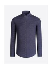 BUGATCHI UOMO Modern Fit Ooh Cotton Graphite  Shirt
