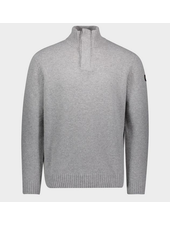 PAUL & SHARK Grey Wool 1/4 Buttoned Sweater