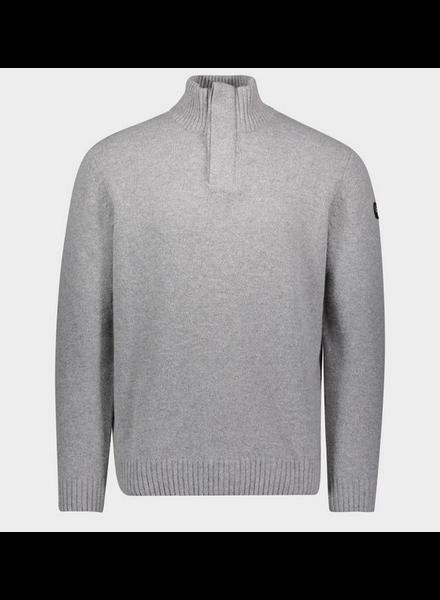 PAUL & SHARK Grey Wool 1/4 Buttoned Sweater