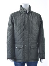 S4 Olive Quilted Casual Coat