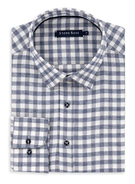 STONE ROSE Modern Fit Blue Gingham Flannel Shirt