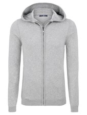 STONE ROSE Grey Lightweight Heathered Hoodie