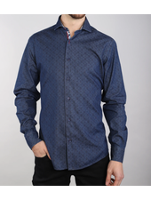 7 DOWNIE Modern  Fit Denim with Paisley Shirt