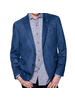 7 DOWNIE Modern Fit Blue Micro Suede Sport Coat