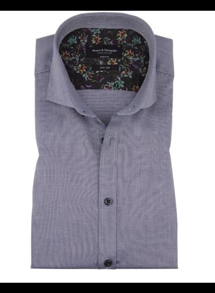 BRUUN & STENGADE Modern Fit Blue Neat Shirt
