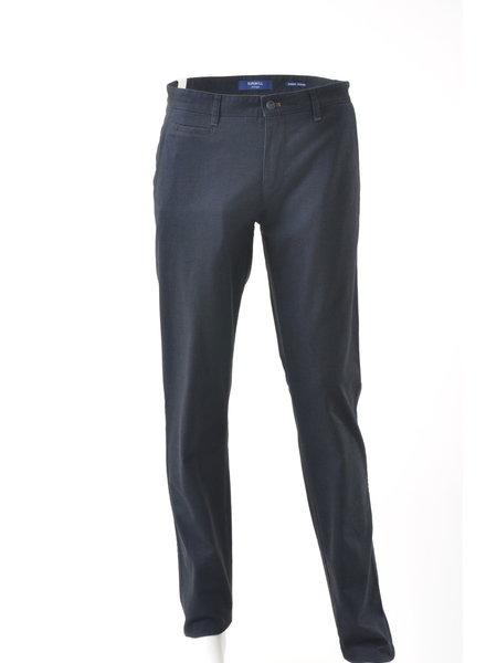 SUNWILL Slim Fit Navy Twill Cotton Pant