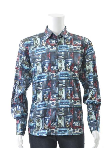 LUCHIANO VISCONTI Modern Fit Ghetto Blaster Shirt