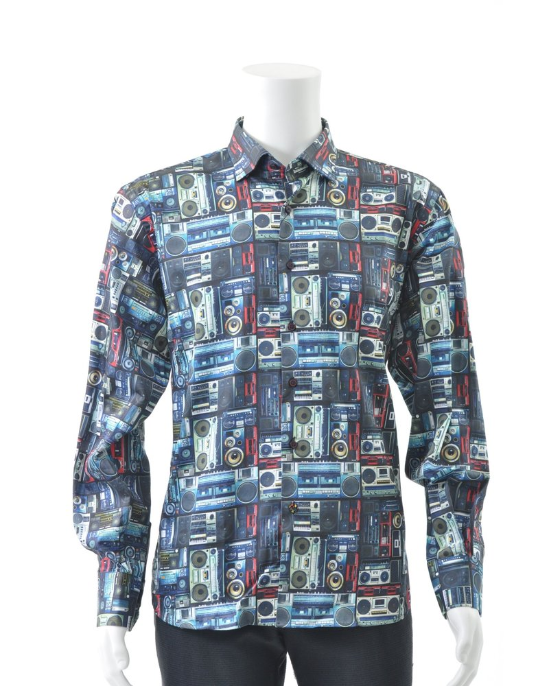 LUCHIANO VISCONTI Modern Fit Ghetto Blaster Shirt