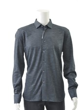LUCHIANO VISCONTI Modern Fit Navy Stretch Shirt