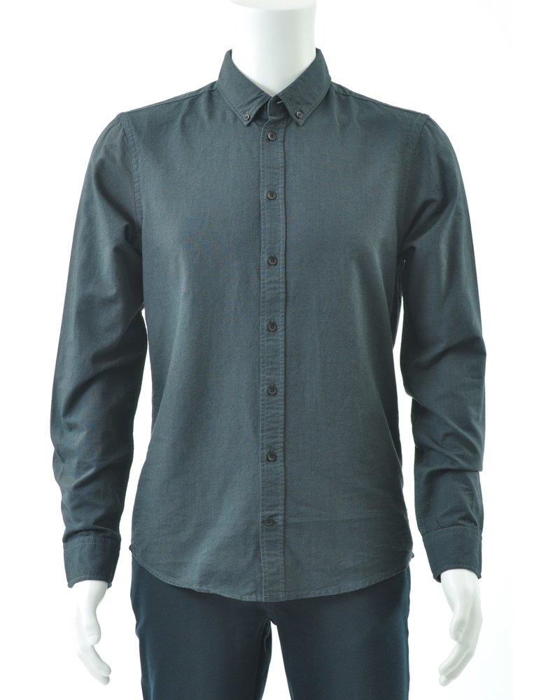 BLEND Slim Fit Dark Oxford Shirt
