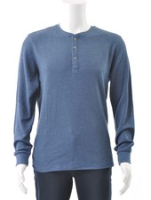 BLEND Long Sleeve Henley T Shirt