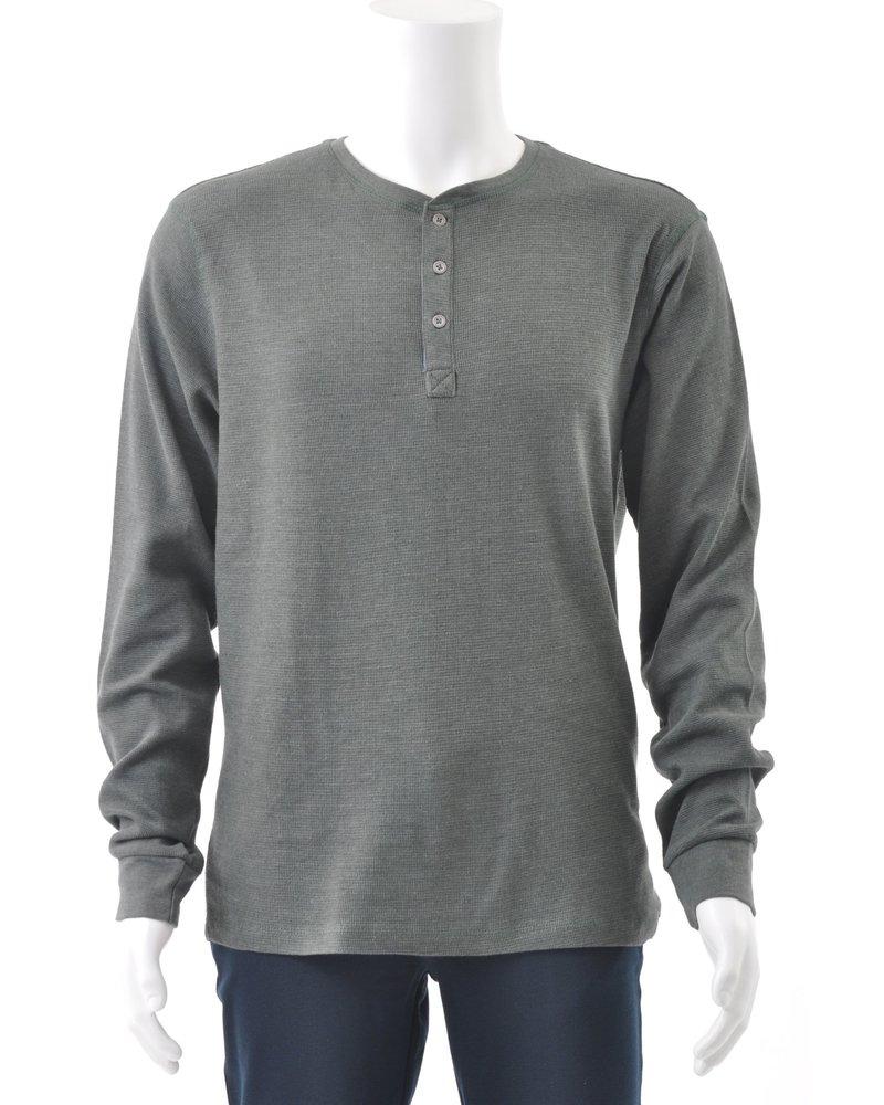 BLEND Long Sleeve Henley T Shirt
