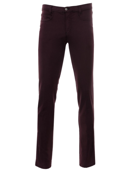 MARCO Modern Fit Solid Stretch 5 Pocket Plum